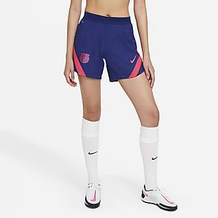 FC Barcelona VaporKnit Strike Knit voetbalshorts voor dames
