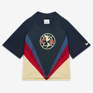 Club América Camiseta de fútbol reversible de manga corta para mujer