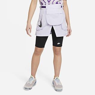 Nike Falda cargo convertible para niñas talla grande