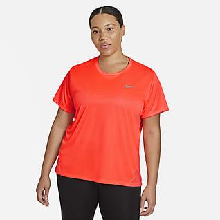 Nike Miler 女款短袖跑步上衣 (加大尺寸)