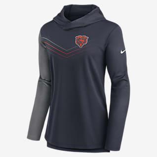 Nike Dri-FIT Chevron (NFL Chicago Bears) Women's Long-Sleeve Hooded T-Shirt