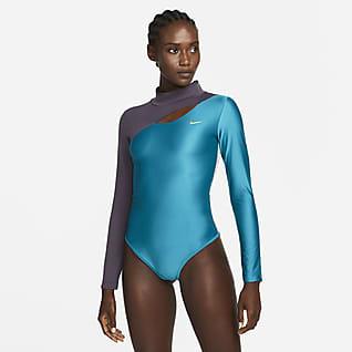 Serena Design Crew Langarm-Tennis-Bodysuit für Damen
