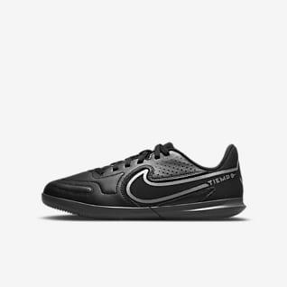 Nike Jr. Tiempo Legend 9 Club IC Calzado de fútbol para canchas de pasto y cubierta para niños talla pequeña/grande