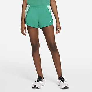 Nike Dri-FIT Sprinter Løbeshorts med print til større børn (piger)