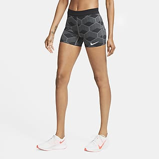 Nike Dri-FIT ADV Team Kenya AeroSwift กางเกงวิ่งรัดรูปขาสั้นผู้หญิง