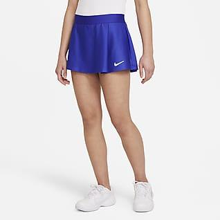 NikeCourt Victory Falda de tenis para niña talla grande
