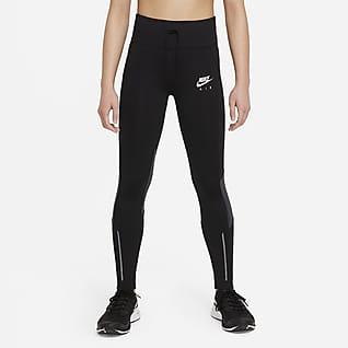Nike Air Dri-FIT Løpeleggings med høyt liv til store barn (jente)