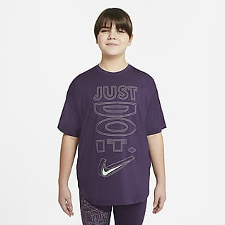 Nike Dri-FIT Big Kids' (Girls') Short-Sleeve Training Top (Extended Size)