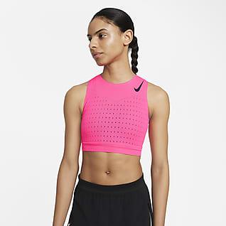 Nike AeroSwift Korte hardloopsinglet voor dames