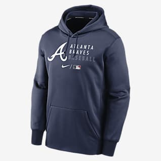 Nike Therma (MLB Atlanta Braves) Men's Pullover Hoodie