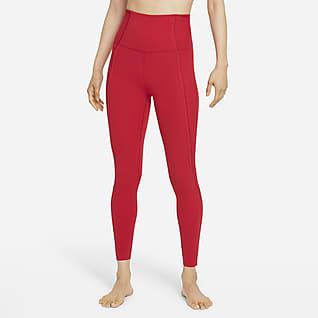 Nike Yoga Luxe Dri-FIT เลกกิ้ง Infinalon เอวสูงผู้หญิง 7/8 ส่วน