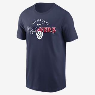 Nike Americana (MLB Milwaukee Brewers) Men's T-Shirt