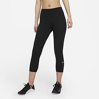 Nike One 女款中腰短版內搭褲