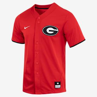 Nike College (Georgia) Camiseta de béisbol con botones para hombre