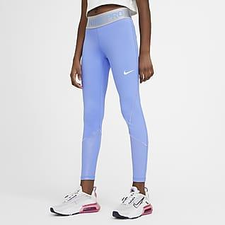 Nike Pro Warm Tréninkové legíny pro větší děti (dívky)