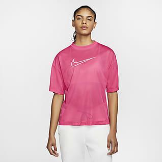 Nike Sportswear Kortærmet top i mesh til kvinder
