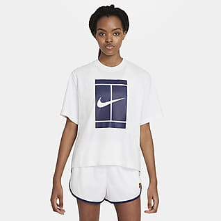 NikeCourt Tennis-T-shirt til kvinder