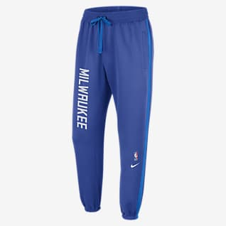 Milwaukee Bucks Showtime City Edition Calças NBA Nike Therma Flex para homem