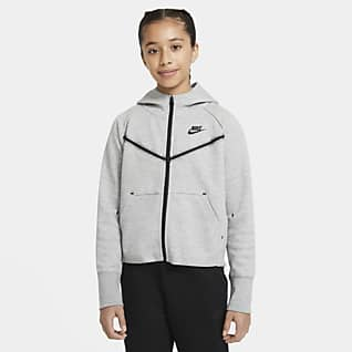 Nike Sportswear Tech Fleece Big Kids' (Girls') Full-Zip Hoodie