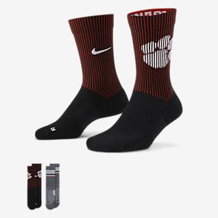 Nike College Multiplier (Clemson) Crew Socks (2 Pairs)