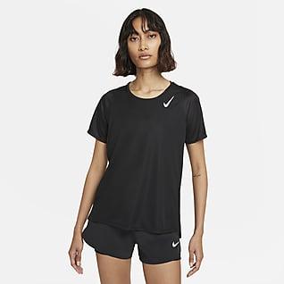 Nike Dri-FIT Race Part superior de màniga curta de running - Dona