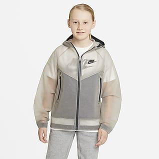 Nike Sportswear Windrunner Zero Chamarra con capucha para niño talla grande