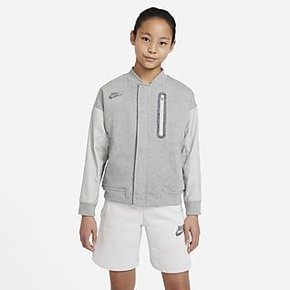 Nike Sportswear Chamarra Bomber para niños talla grande