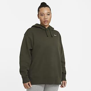 Nike Sportswear Sudadera sin cierre de tejido Fleece para mujer (talla grande)