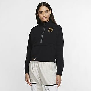 F.C. Barcelona Women's 1/4-Zip Football Jacket