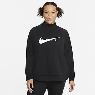 Nike Swoosh Run Женская беговая футболка (большие размеры)