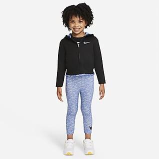 Nike Conjunto de sudadera con gorro y leggings para niños pequeños