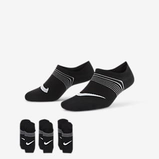 Nike Everyday Plus Lightweight No-Show Meias de treino para mulher (3 pares)