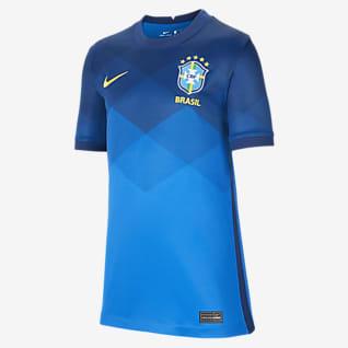 Brasil de visitante Stadium 2020 Camiseta de fútbol para niños talla grande