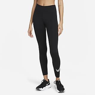 Nike Dri-FIT One Icon Clash Leggings med mellemhøj talje og grafik til kvinder