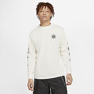 Nike T-shirt da basket a manica lunga - Uomo