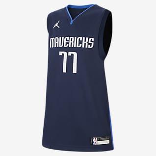 Dallas Mavericks Statement Edition Swingman Jordan NBA-jersey voor kids