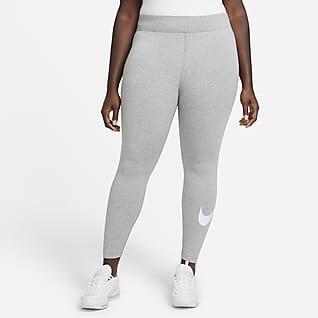 Nike Sportswear Essential Swoosh-leggings med mellomhøyt liv til dame (Plus Size)