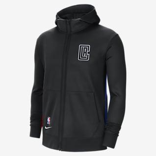 LA Clippers Showtime City Edition Sudadera con capucha de la NBA Nike Therma Flex para hombre