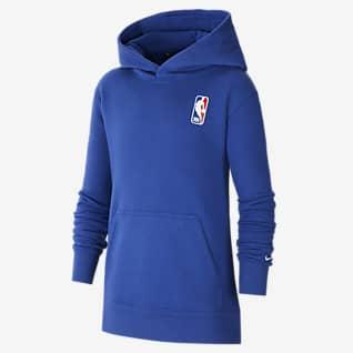 Team 31 Essential Nike NBA Pullover-hættetrøje til større børn (drenge)