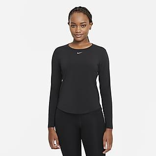 Nike Dri-FIT One Luxe Langarm-Oberteil mit Standardpassform für Damen