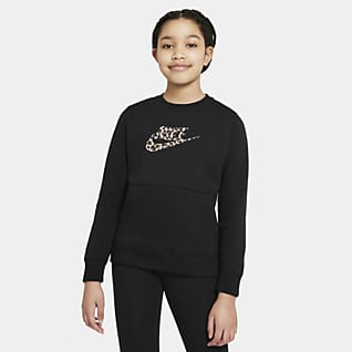 Nike Sportswear Kerek nyakkivágású pulóver nagyobb gyerekeknek (lányok)