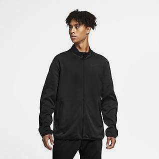 Nike Dri-FIT เสื้อแจ็คเก็ตเทรนนิ่งผู้ชายแบบถัก