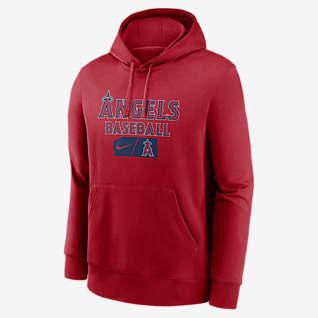 Nike Lettering Club (MLB Los Angeles Angels) Men's Pullover Hoodie