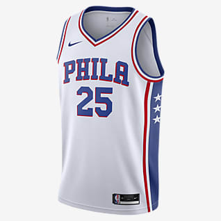 2020 赛季费城 76 人队 (Ben Simmons) Association Edition Nike NBA Swingman Jersey 男子球衣