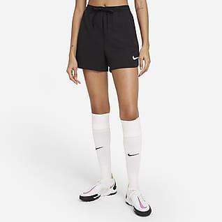 Nike F.C. Dri-FIT Vævede fodboldshorts til kvinder
