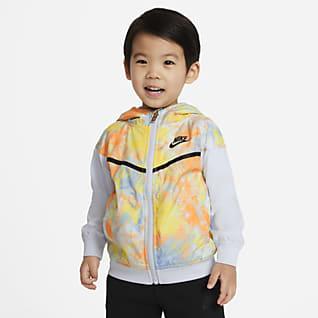 Nike Sportswear Windrunner Chamarra infantil con cierre completo con teñido batik para bebé