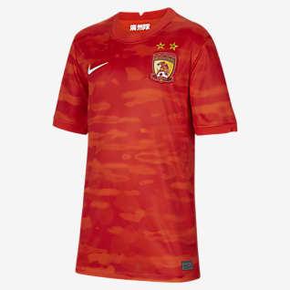 2021 赛季广州主场球迷版 大童足球球衣