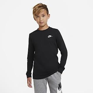 Nike Sportswear Langærmet T-shirt til store børn (drenge)