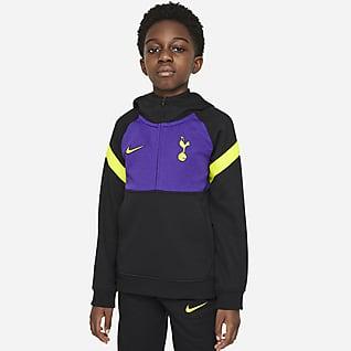 Tottenham Hotspur Hoodie de futebol com fecho até meio Nike Dri-FIT Júnior