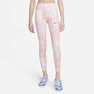 Nike One Big Kids' (Girls') Tie-Dye Printed Leggings
